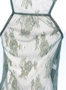 Topshop Green Tiered Tank Top with Lace Back (XS)