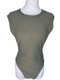 Revamped by Sirens Khaki Green Mock Neck Sleeveless Bodysuit (Large)