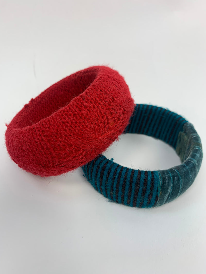 Red Chunky Bangles (One Size)