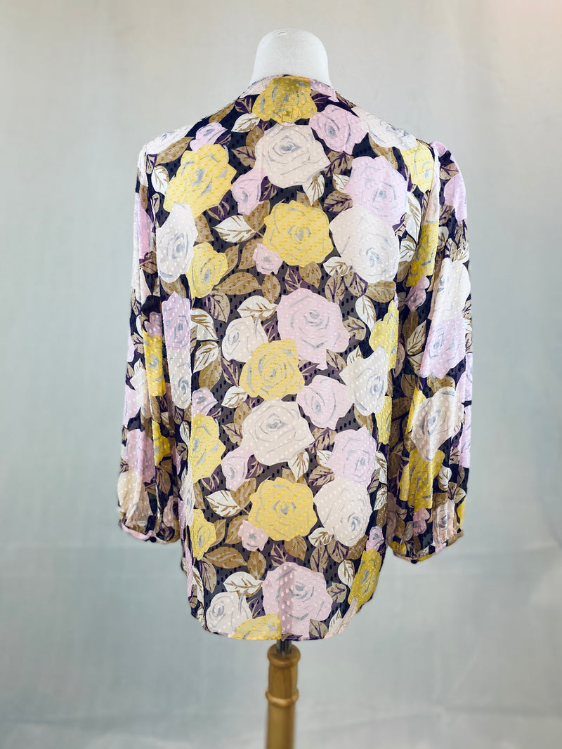 Massimo Dutti Floral Sheer Blouse (Medium)