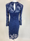 Juicy Couture Navy Blue Lace Dress (Small)