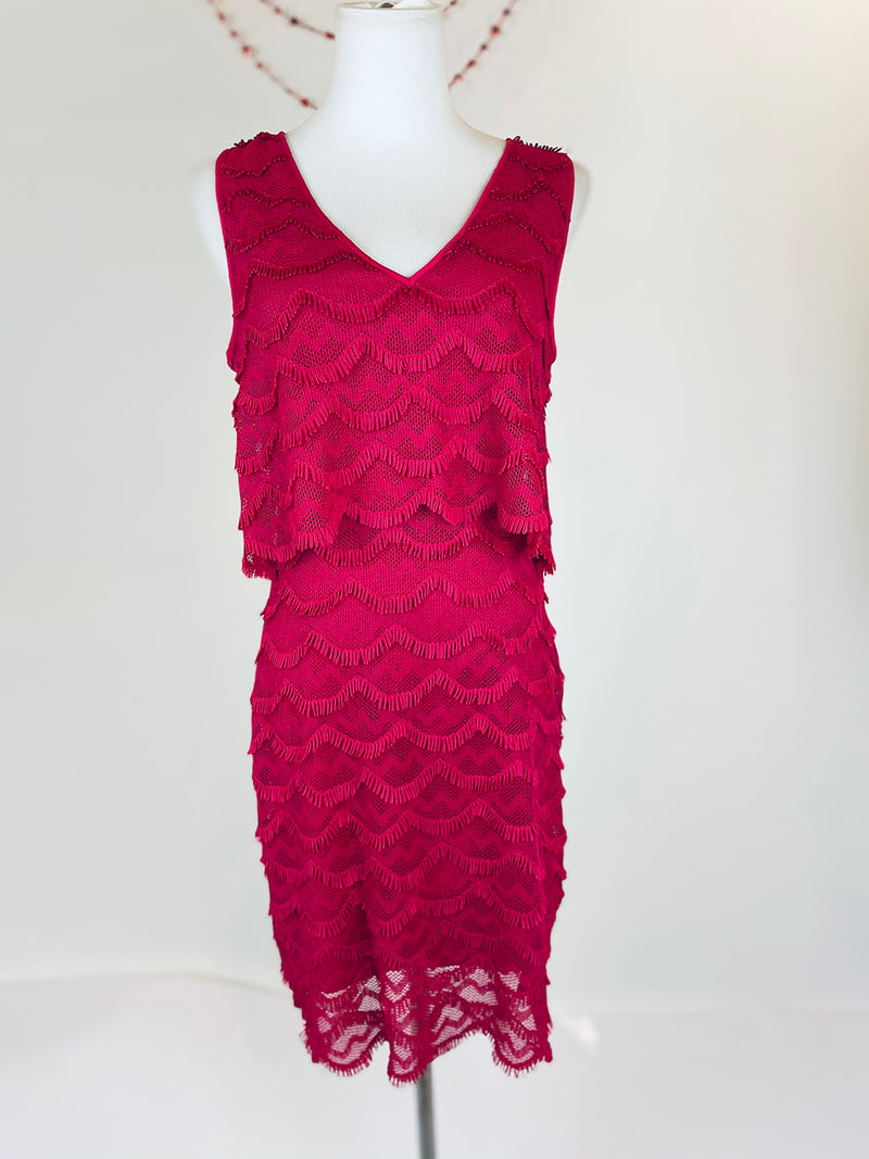 Guess Pink Fringed Dress (Small)