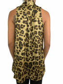 Seden Womens Animal Print Blouse (Small)