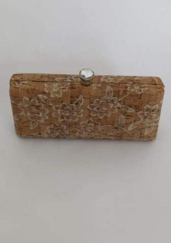 Splash Brown Floral Woodsey Patterned Clutch