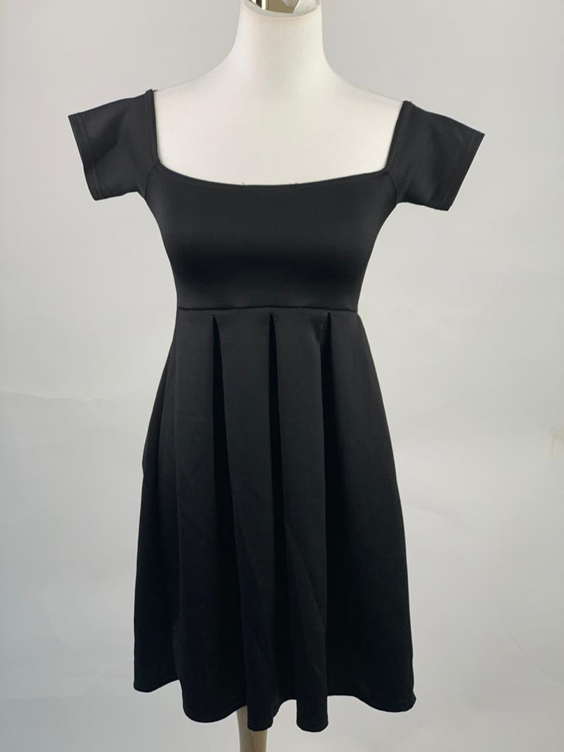 Custom-made black dress (Extra small)