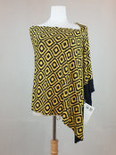 Magic six way scarf in yellow (one size) - new with tag