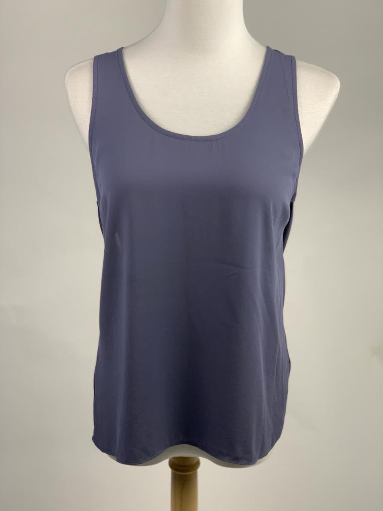 Topshop Grey Women's Vest Top with cutout back (Small)