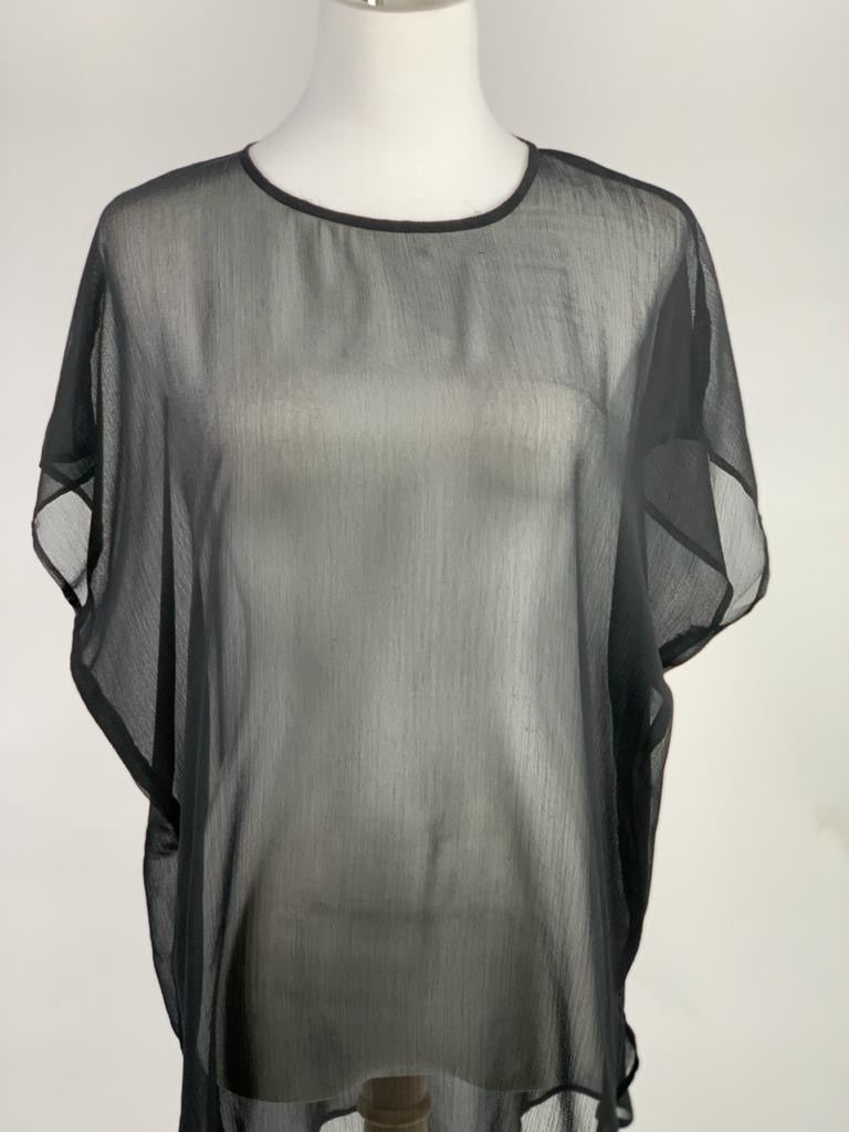 Boohoo Sheer Black top (Medium)