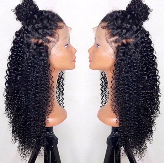 Brazilian Glamorous Black Front Short Curly 360 Lace Wig | Human Wig | Black/Brown Wig