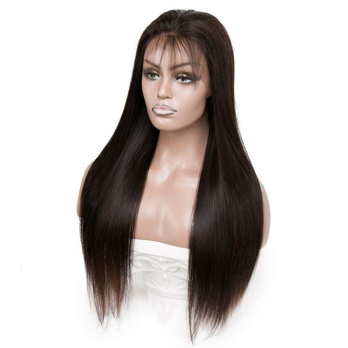 360 Lace Front Straight Human Hair Wigs,  Pre Plucked Lace Wig Glueless Human Hair Wigs with Baby Hair