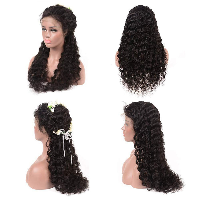 Lace Front  Wigs With Baby Hair Pre Plucked 100% Unprocessed Virgin Brazilian Human Hair Wig