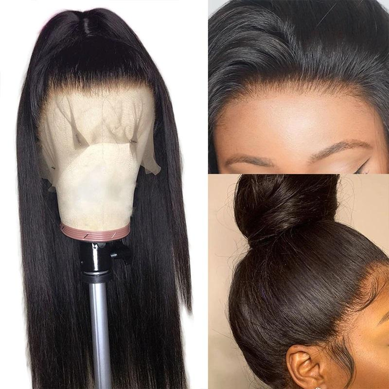 HD Transparent Lace Front  Straight hair 13x4 Pre Plucked Glueless Lace Wig