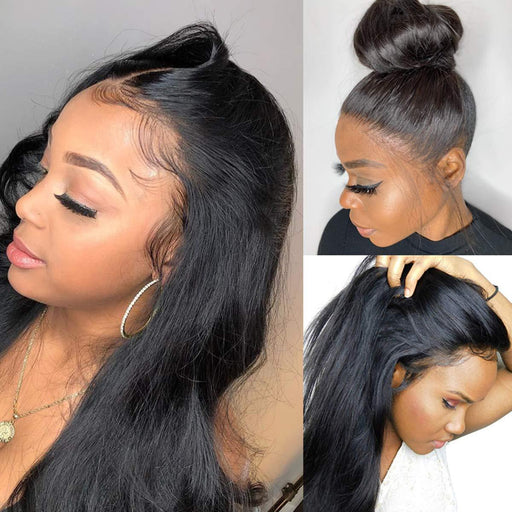 360 Lace Fronal  100% Unprocessed human Wigs,Natural Hairline with Baby Hair, Can do Ponytail and Buns