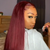 Red Remy Straight Lace Human Hair Wigs For Black Women Human Hair Wig Pre Plucked