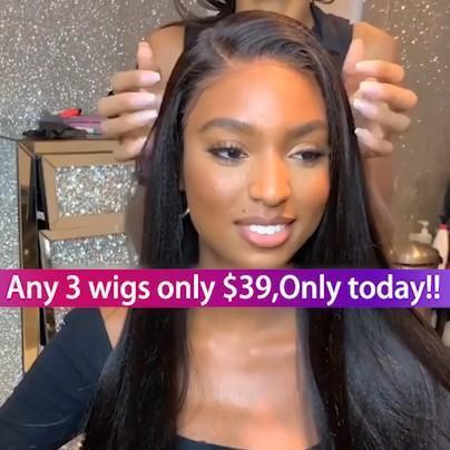(🔥HOT)Brazilian Straight Lace Wigs With Baby Hair For Black Women | Human Hair Wigs