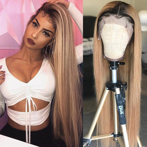 Brazilian Lace Front Wig 4 * 4 Straight Lace Closure Wig Human Hair Wigs