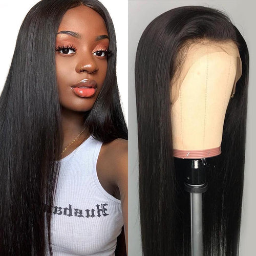 Brazilian Straight Lace Front Human Hair Wigs For Women Remy Hair Straight Wig With Baby Hair Natural Hairline