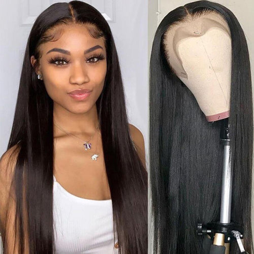 Straight Lace Front Human Hair Wigs Brazilian Hair 140% 13X4 Lace Frontal Wigs For Black Women