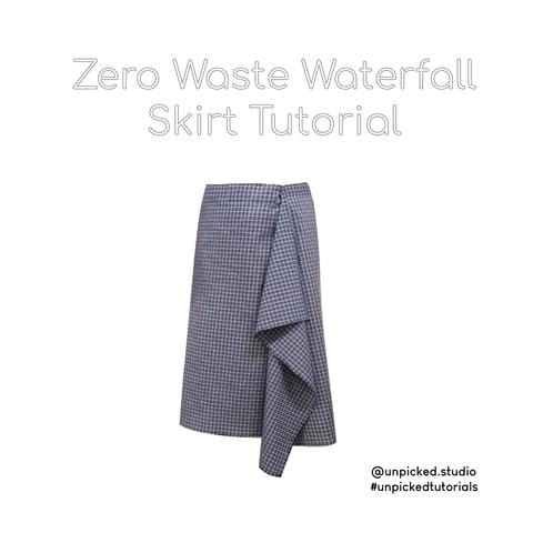 Zero Waste Waterfall Skirt Tutorial