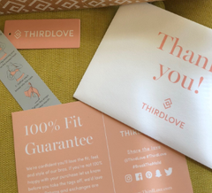Package from Third Love. Lingerie review from Cozure