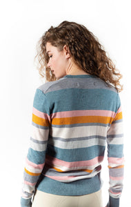 Hannah Childs Michaela Stripe Crew Neck Sweater