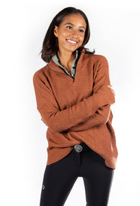 Hannah Childs Sassy Boyfriend 1/4 Zip Sweater