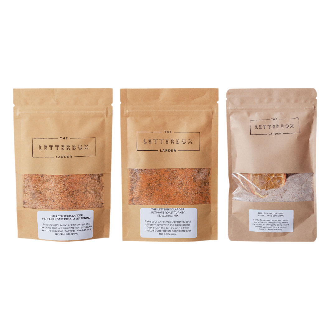 The Letterbox Larder - Christmas Dinner Seasoning & Mulled Wine