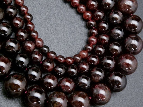 Almandine And Mozambique Garnet Beads For Jewelry Making