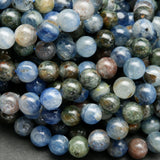 Blue and green kyanite beads