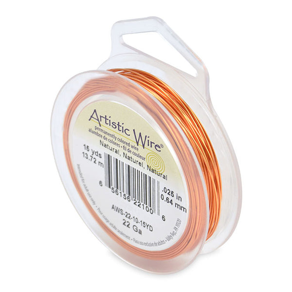 Spool of Natural Copper Color 22 Gauge Artistic Wire