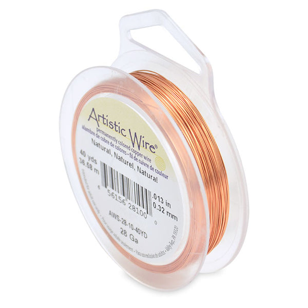 Natural Copper Color 28 Gauge Artistic Wire