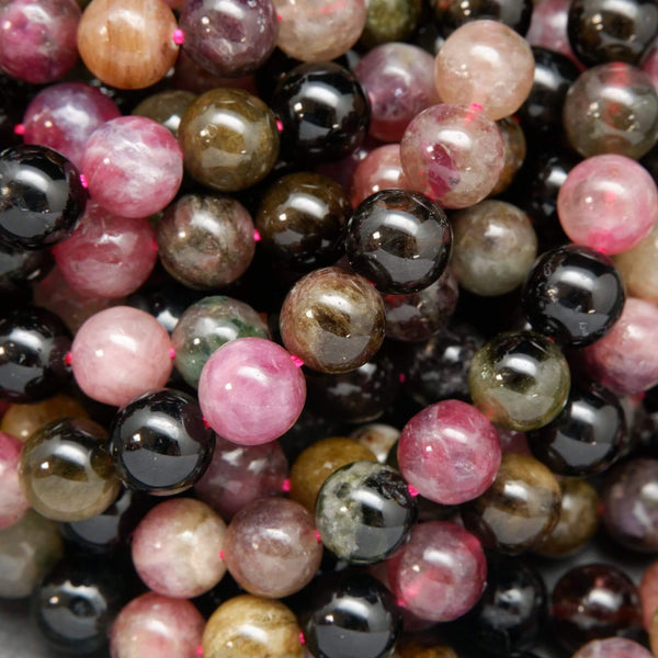 Multicolor Watermelon Tourmaline Round Loose Beads