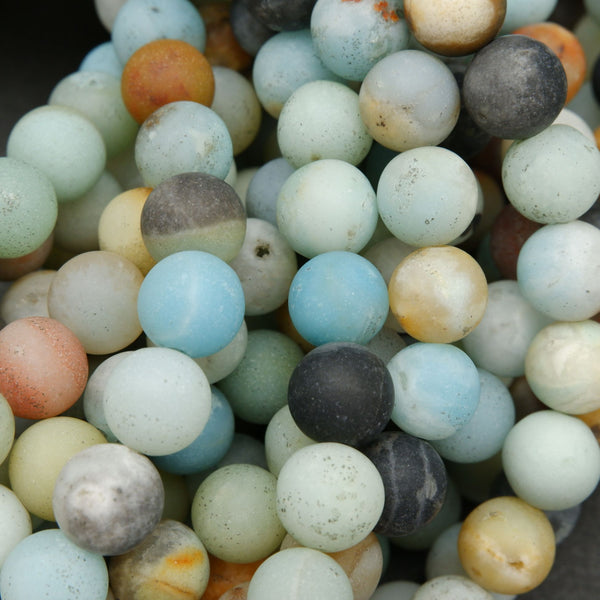 Brazilian Amazonite Matte Finish Beads