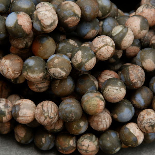 Brown and Pink Rhyolite Loose Beads From West Texas.