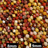 Red and Yellow Australian Mookaite Beads. Faceted Prism Shape