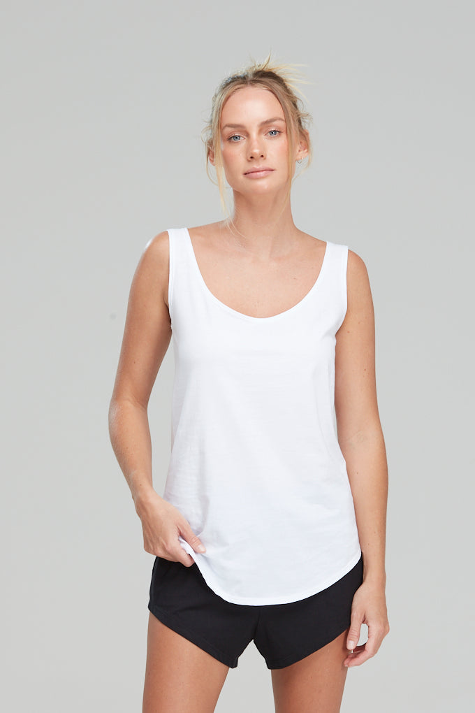 Singlet Organic Cotton White