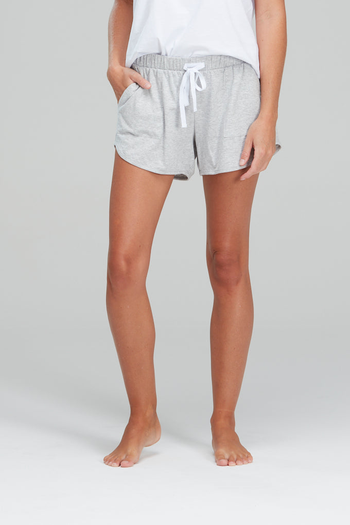 Luxe Organic Cotton Shorts Grey