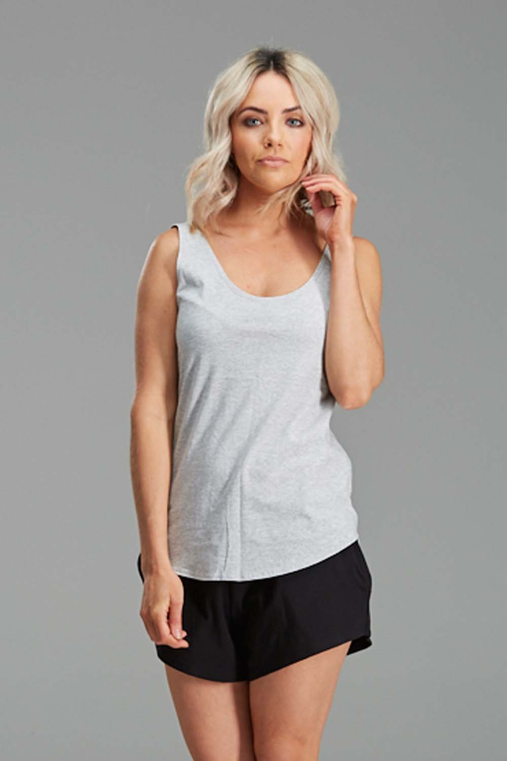 Singlet Organic Cotton Grey