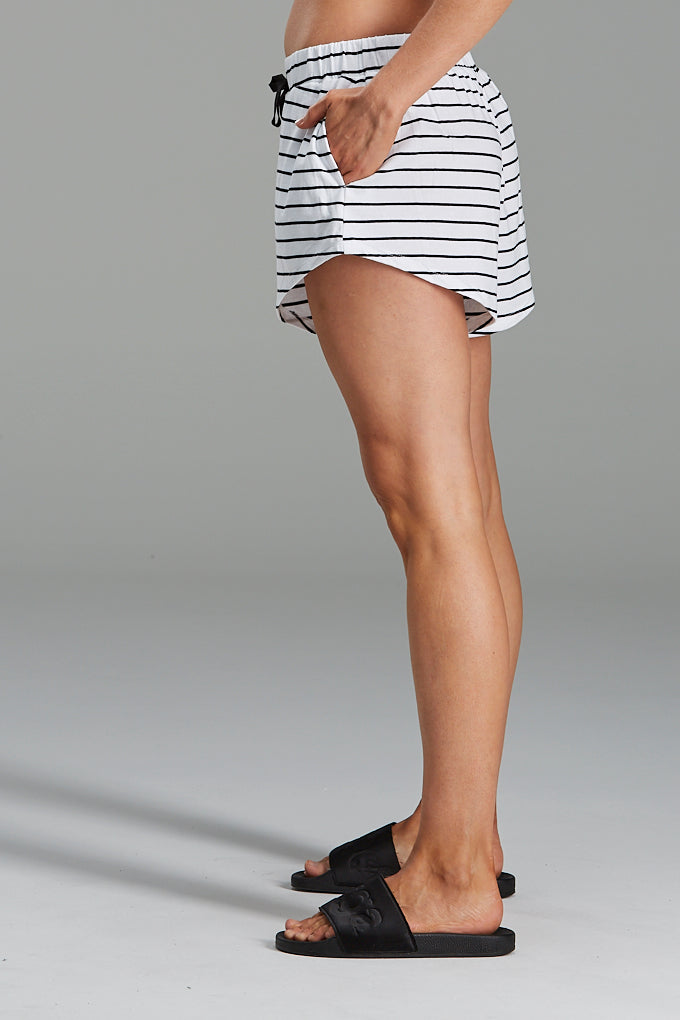 Resort Shorts Organic Cotton Black Stripe