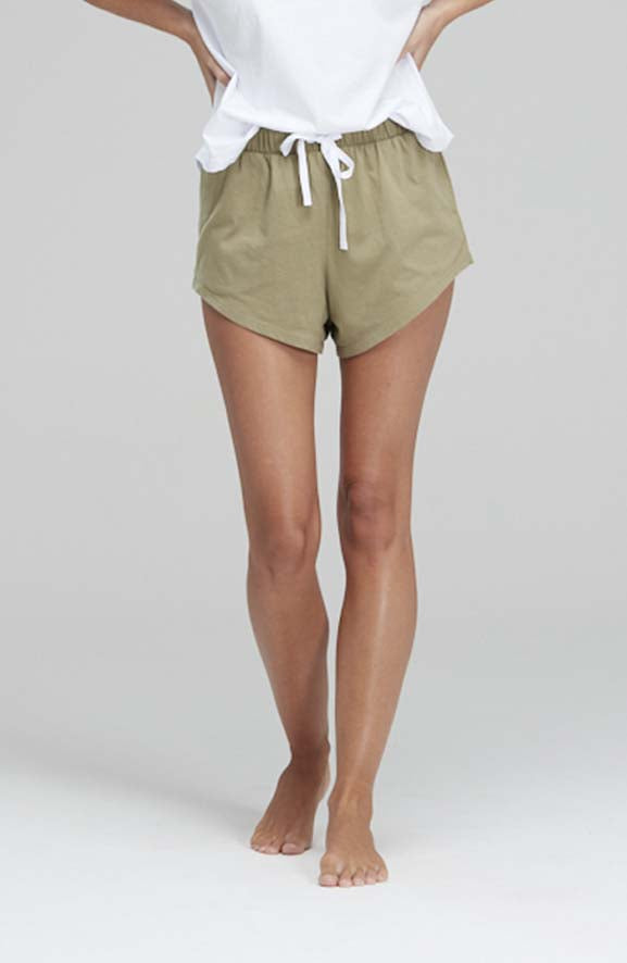 Resort Shorts Organic Cotton Olive