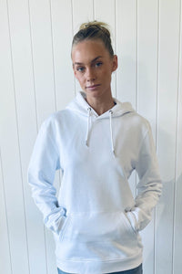 Organic Hoodie in White