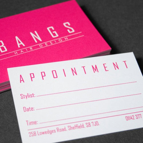 Same Day Appointment Cards/Uncoated Business Cards