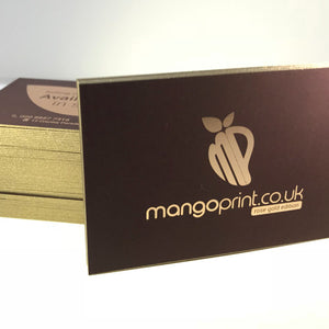 Foiled Business Cards | Business Card Foiling | Coloured Edges
