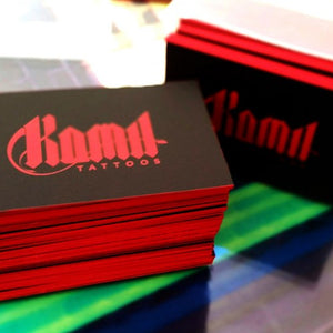 600gsm Spot UV Business Cards With Optional Coloured Edges