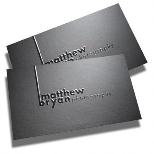 Scodix Raised Spot UV Business Cards With Colour Edge Option