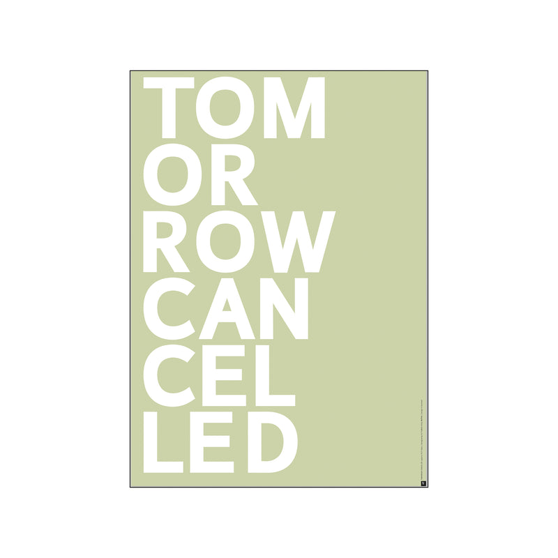 ST - TOMORROW CANCELLED - light green