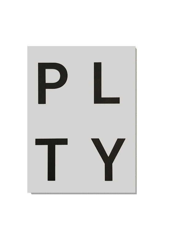 PLTY Notepad - Pale Grey