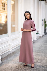 The Velvet Variation Maxi - Dusty Pink/Burgundy