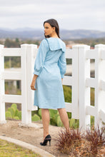 Load image into Gallery viewer, Frill Collar Dress (short length) - Sky Blue