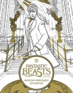 Fantastic Beasts and Where to Find Them: Magische personages en plaatsen – kleurboek
